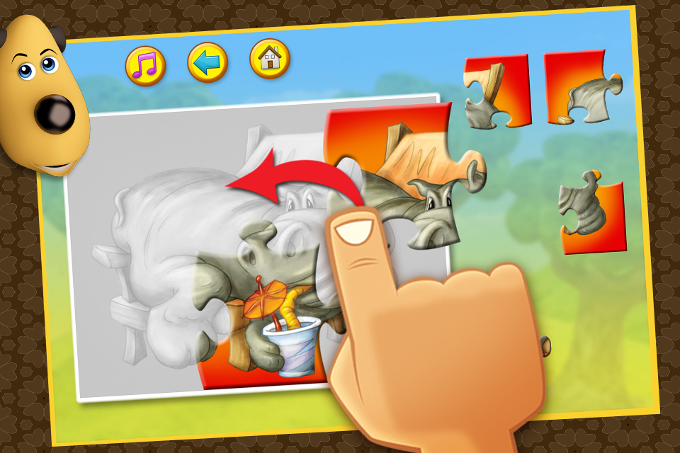Screenshot Happy Bernard's puzzles for kids. Animals from ZOO. Free